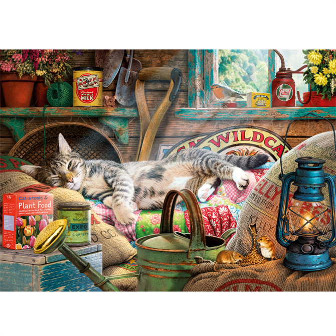 Gibsons 500XL Piece Snoozing in the Shed Jigsaw Puzzle