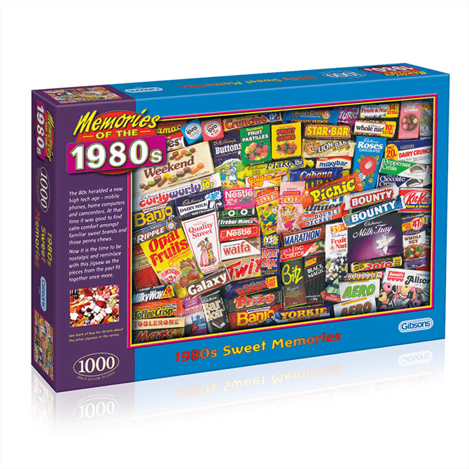 Gibsons 1980s Sweet Memories Jigsaw Puzzle