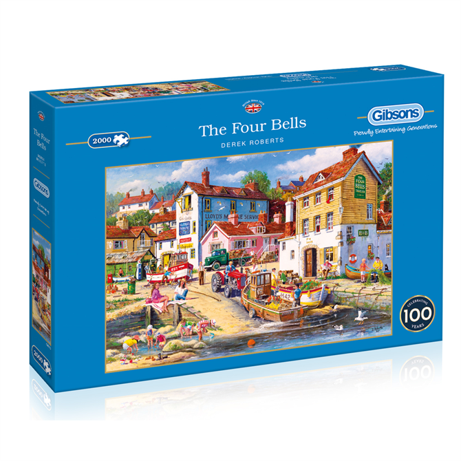 Gibsons 2000 Piece The Four Bells Jigsaw Puzzle