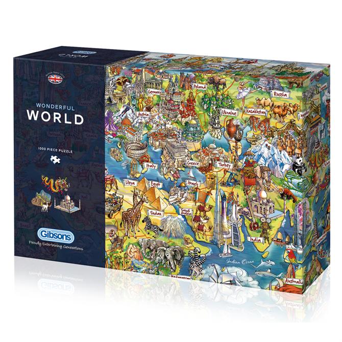 Gibsons 1000 Piece Wonderful World Jigsaw Puzzle