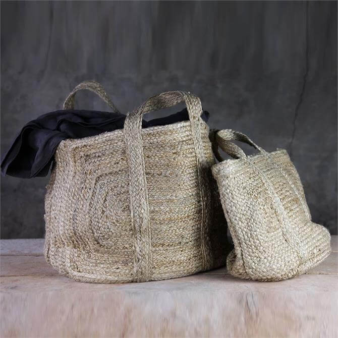Nkuku Braided Hemp Storage Basket
