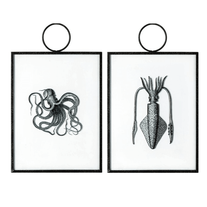 Gallery Direct Creatures of the Deep Hanging Art Set of 2