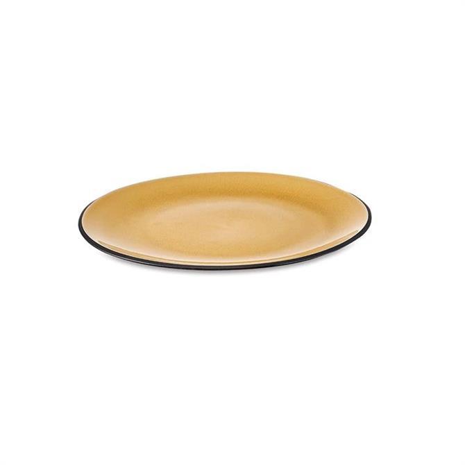 Nkuku Bao Ceramic Dinner Plate Mustard