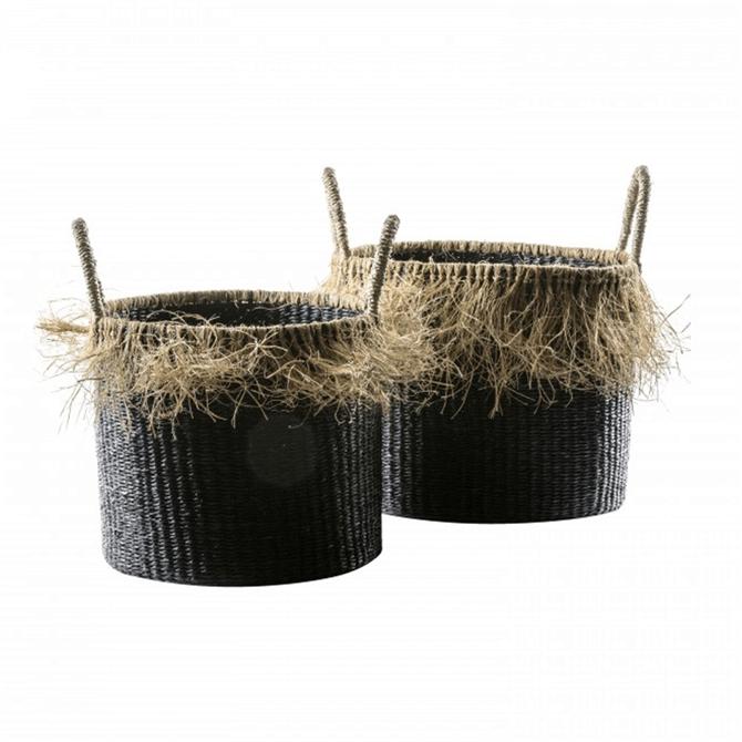 Gallery Direct Ebobo Black Set of 2 Baskets