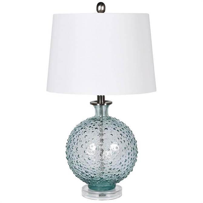 Blue Glass Bubble Lamp