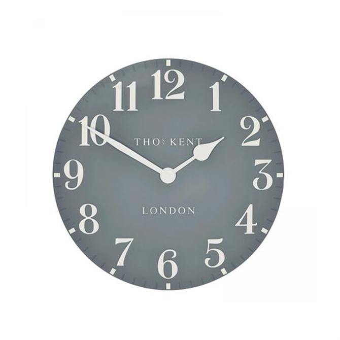 Thomas Kent Arabic Flax Blue Small Wall Clock