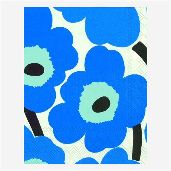 Marimekko Unikko Blue Napkins