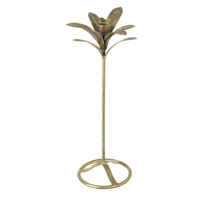 Parlane Candlesticks Leaves Metal Gold