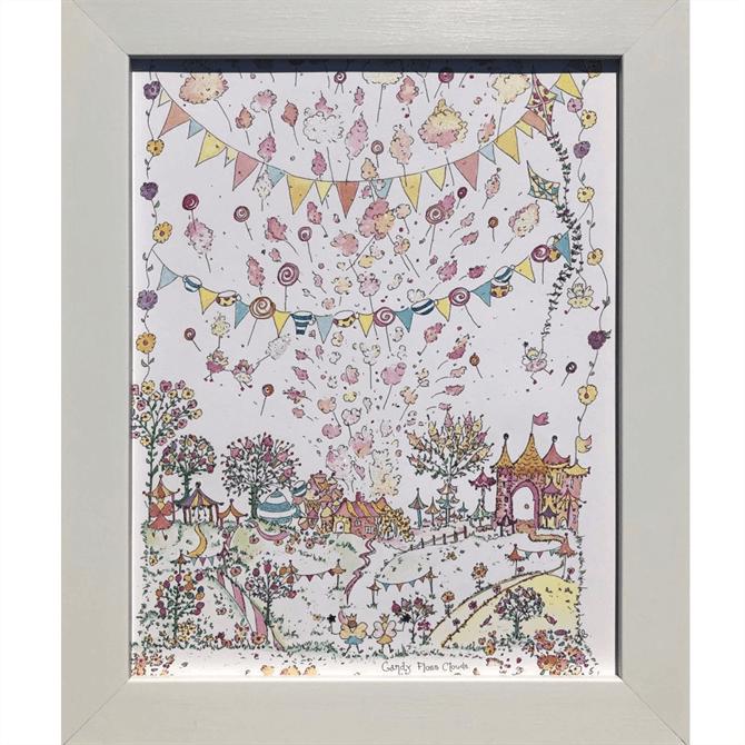 The Porch Fairies Candy Floss Clouds Print