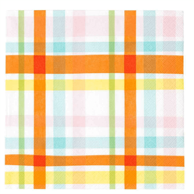 Talking Tables Hop Over The Rainbow Check Napkins