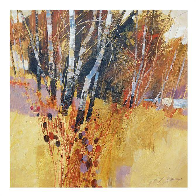 The Art Group Chris Forsey Teasels and Birches