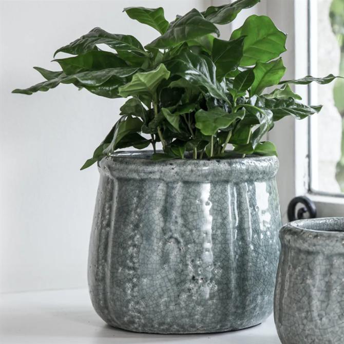 Garden Trading Ceramic Crackle Glaze Pot