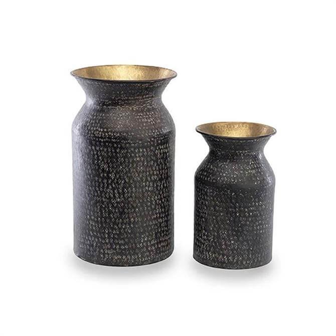 Nkuku Dando Brass Pot Antique Brass