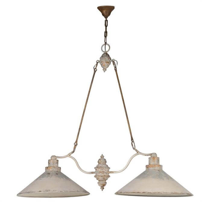 Distressed Metal Ceiling Light Duo