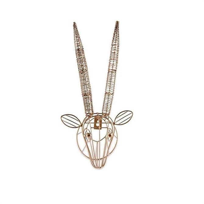 Nkuku Eko Mini Antelope Head Brass