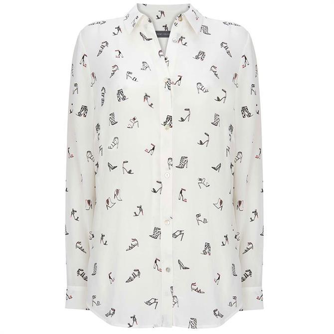 Mint Velvet Erica Shoe Print Shirt