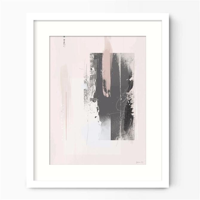Green Lili Free Spirit Pink & Grey Abstract Art