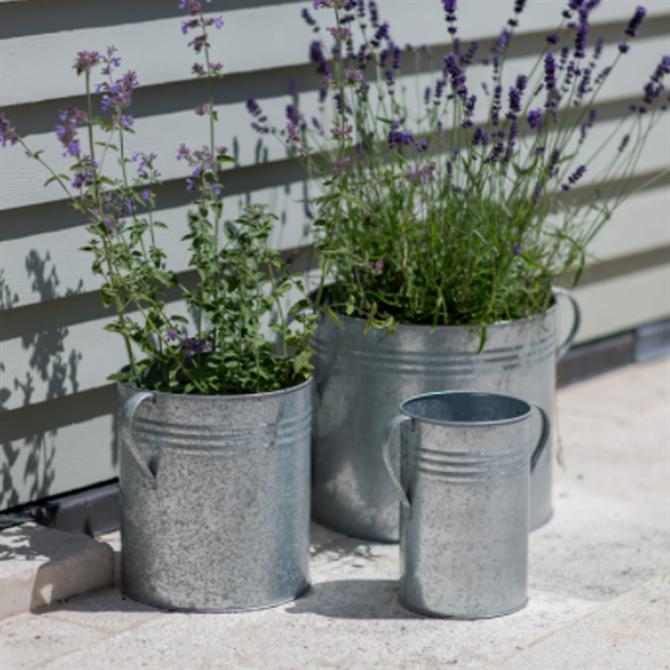 Garden Trading Galvanised Set of 3 Planters