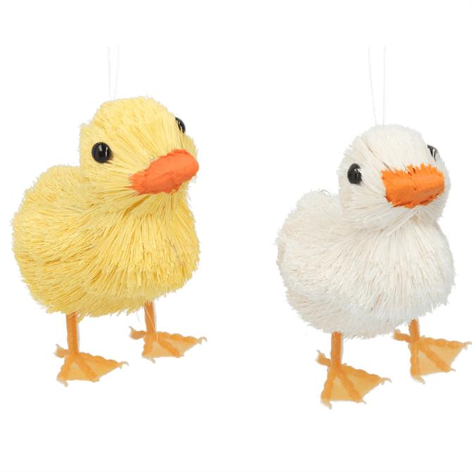 Gisela Graham Assorted Bristle Duck Decoration