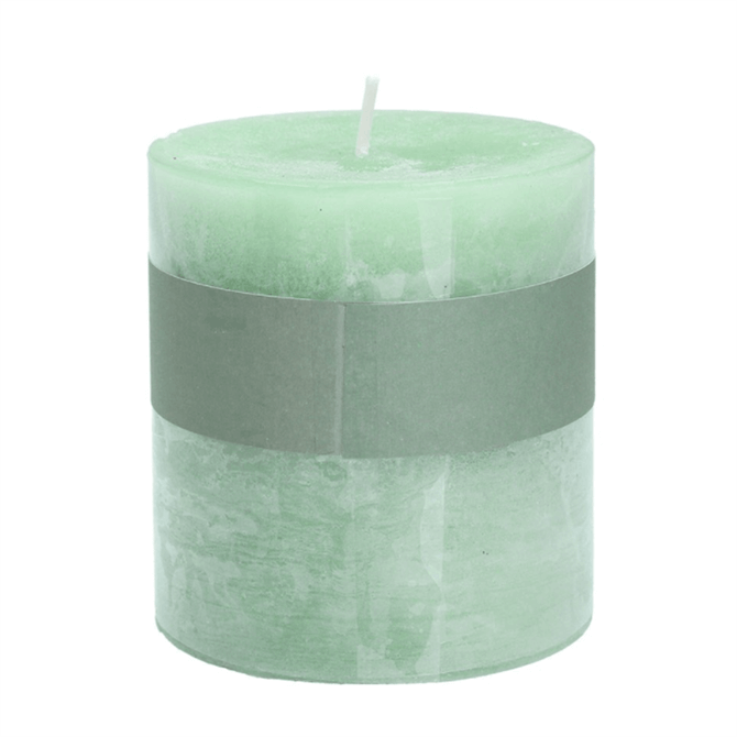 Gisela Graham Green Sage Scented Pillar Candle Small