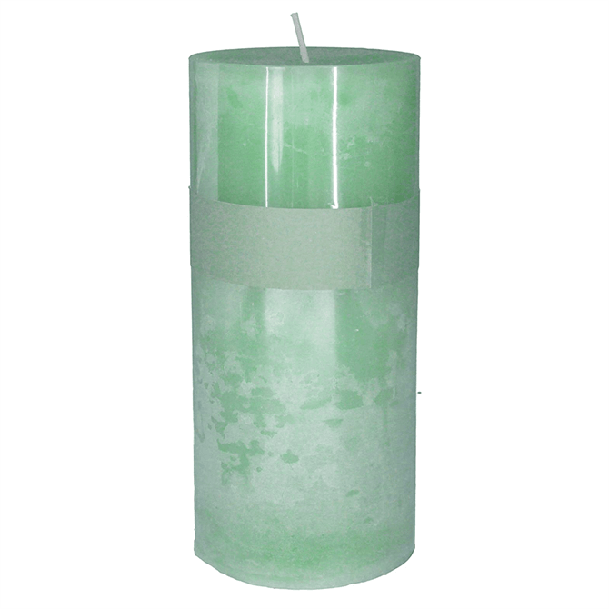 Gisela Graham Green Sage Scented Pillar Candle Medium