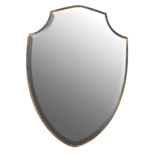 Gold Edged Shield Mirror