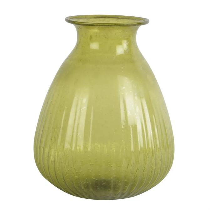 Grand Illusions Ravi Vase Recycled Glass Jade