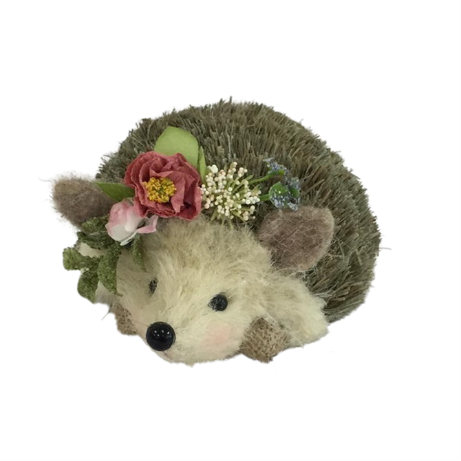 Heaven Sends Easter Spring Woodland Hedgehog with Flowers