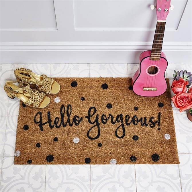 Bombay Duck Hello Gorgeous Door Mat Spotty