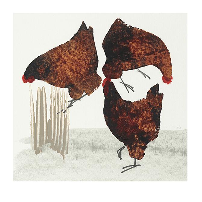 Pyramid Art Group Julia Burns Three Hens