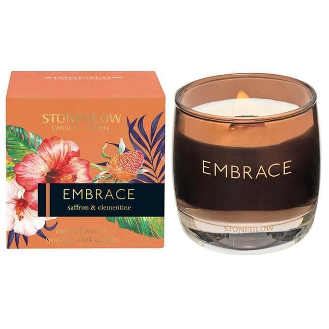 Stoneglow Embrace Saffron & Clementine Candle