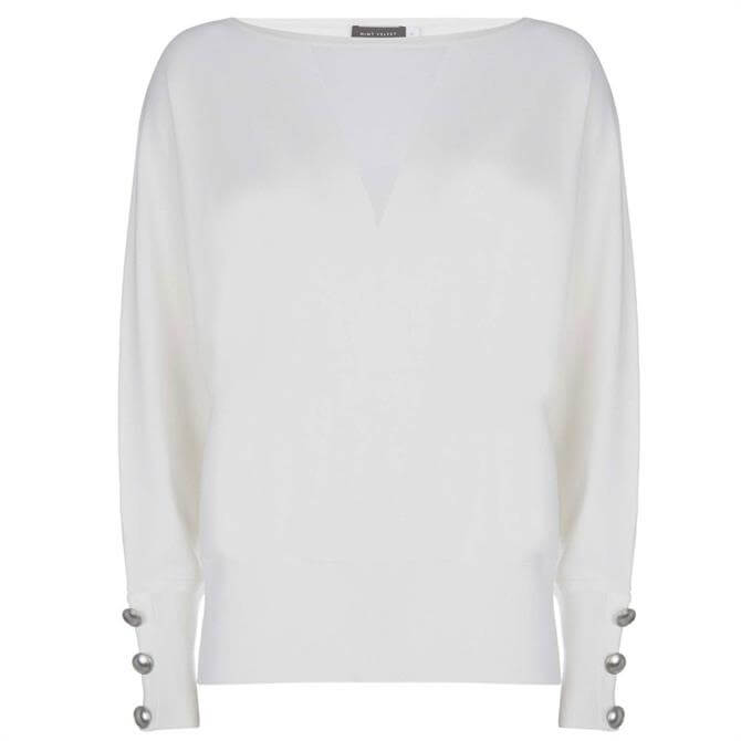 Mint Velvet Ivory Sheer Insert Jumper
