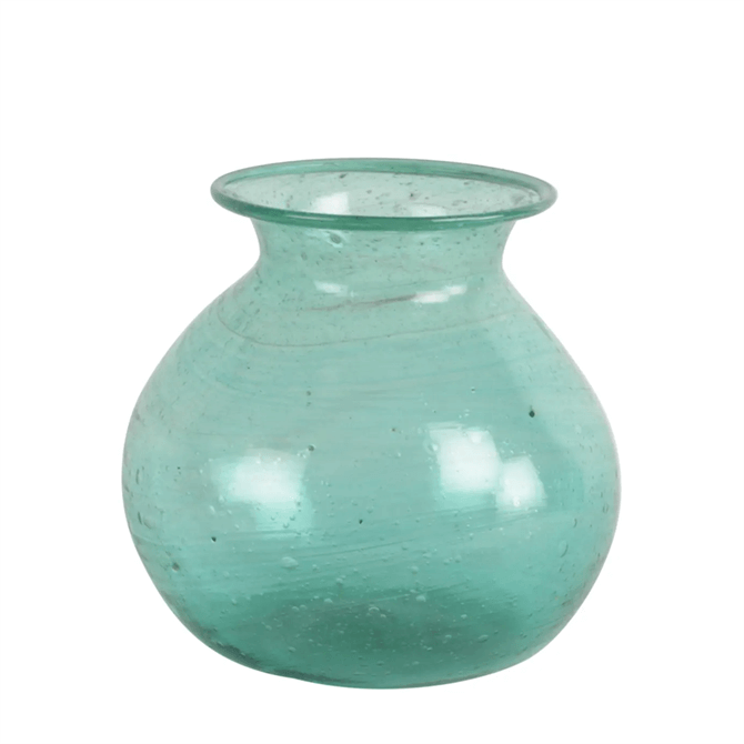 Grand Illusions Kosi Vase Recycled Glass Teal