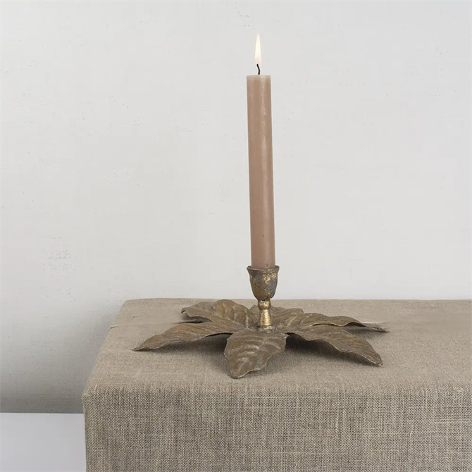 Grand Illusions Golden Palm Candleholder