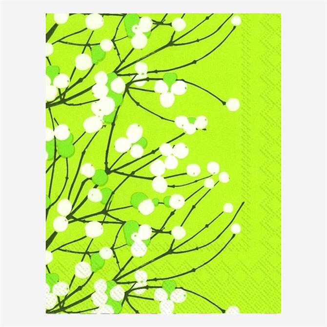 Marimekko Lumimarja Napkins Light Green