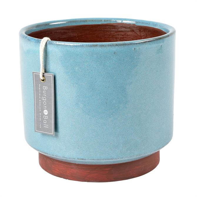 Burgon & Ball Malibu Blue Glazed Pot Extra Large