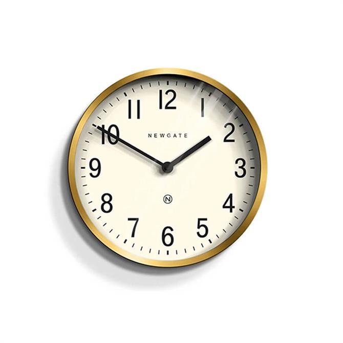 Newgate Master Edwards Small Brass Wall Clock