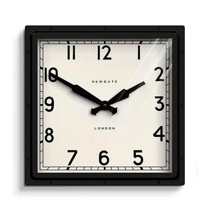 Newgate Quad Wall Clock Black