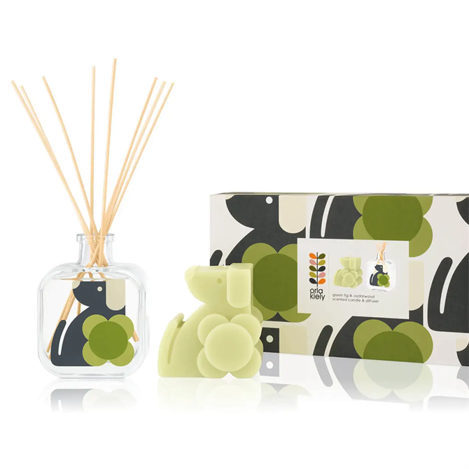 Orla Kiely Dog Moulded Diffuser & Candle Set