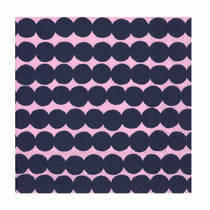 Marimekko Rasymatto Pink & Navy Napkins