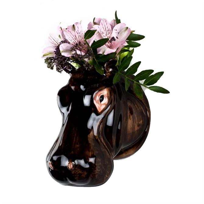Quail Hippo Wall Vase Small