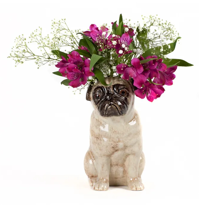 Quail Pug Vase in Fawn Large