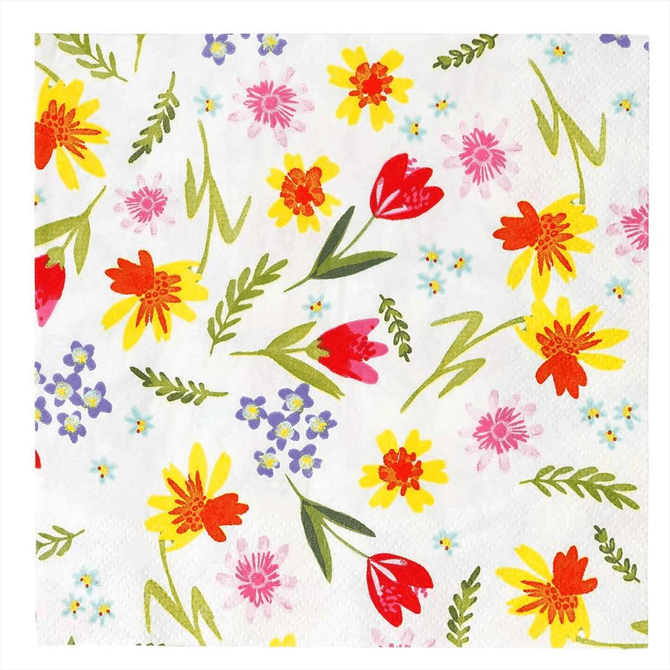 Talking Tables Hop Over The Rainbow Floral Napkins