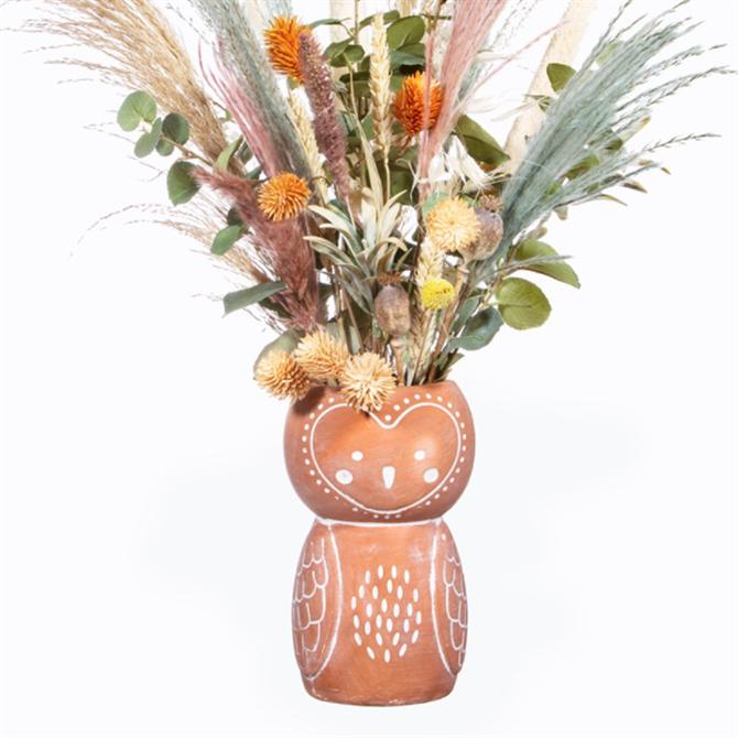 Sass & Belle Olivia Owl Terracotta Vase