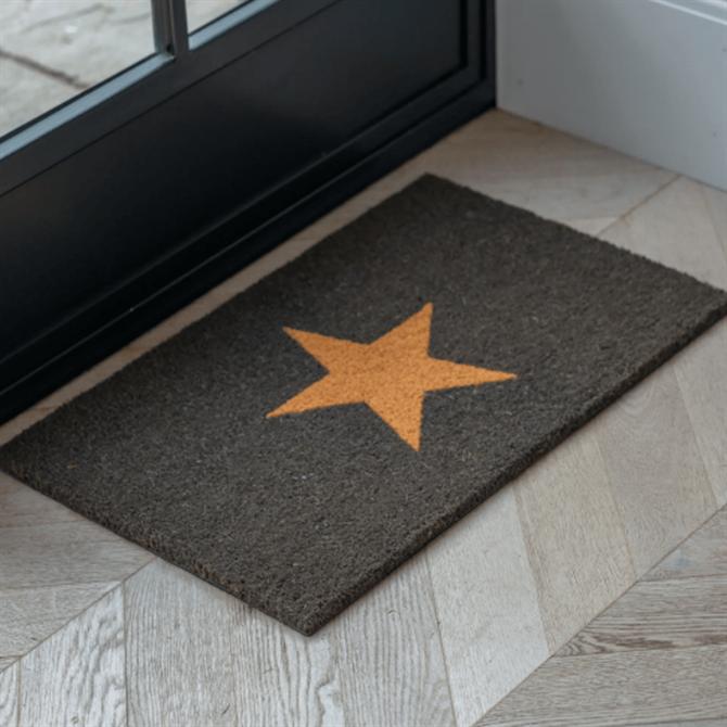 Garden Trading Star Doormat Black Small