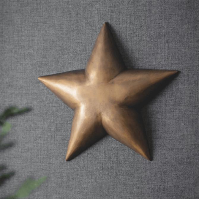 Garden Trading Brass Wall Star Small
