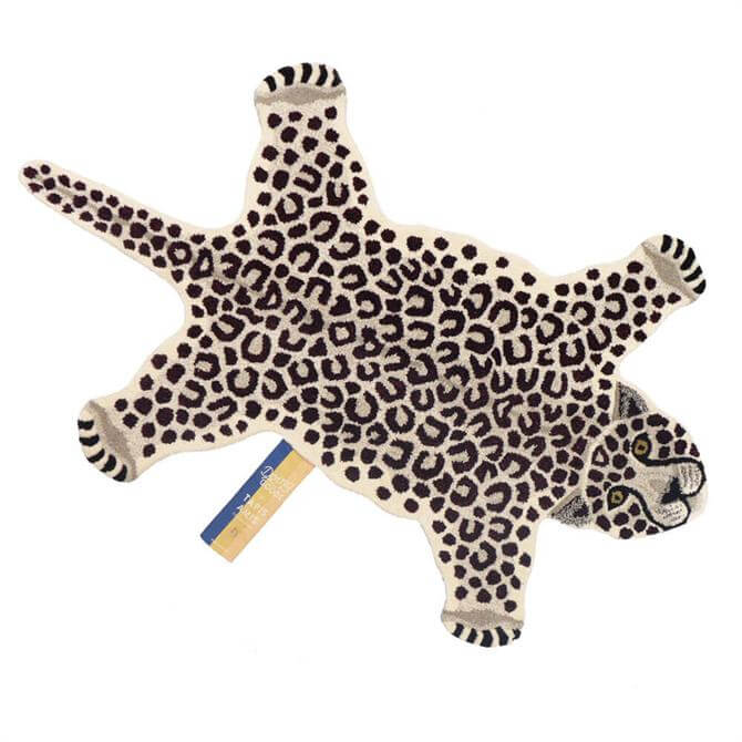 Doing Goods Snowy Leopard Rug Large