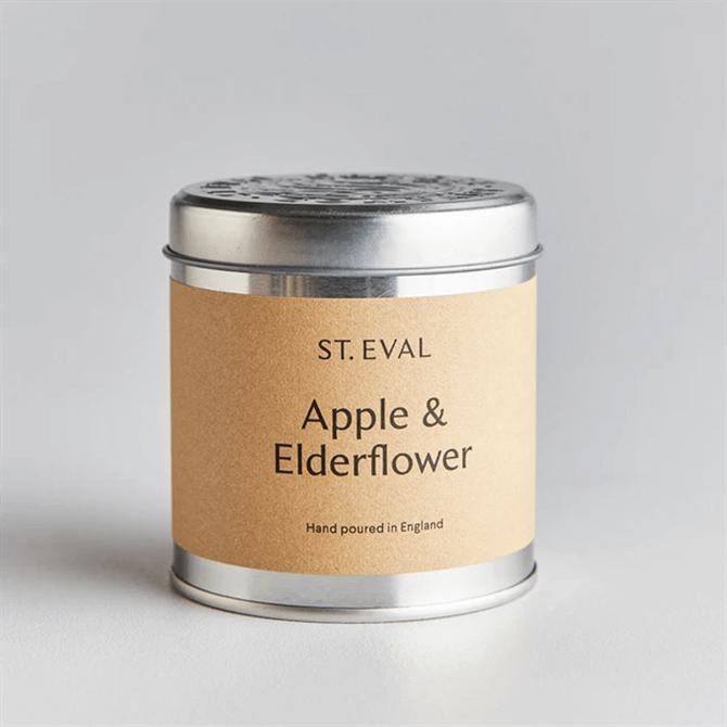 St Eval Apple & Elderflower Scented Tin Candle