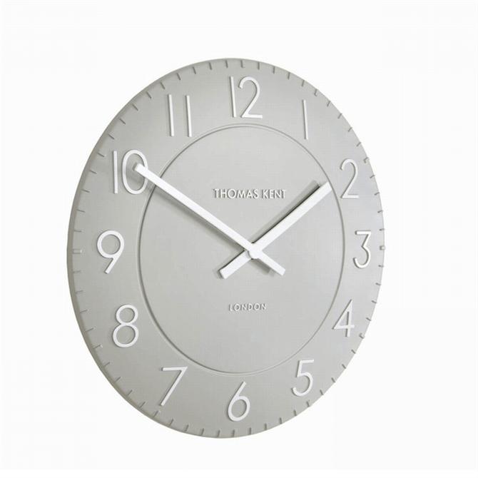 Thomas Kent Townhouse Wall Clock 12 inch Smokey Grey