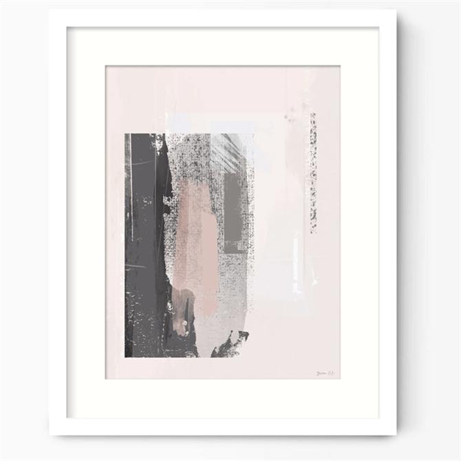 Green Lili Way Out Pink & Grey Abstract Art